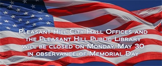 City Hall Offices and Library Closed for Memorial Day
