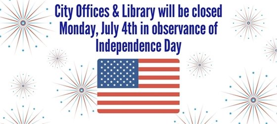 City offices and library closed