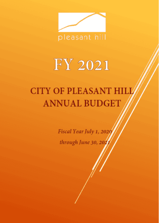 FY 21 Budget Cover