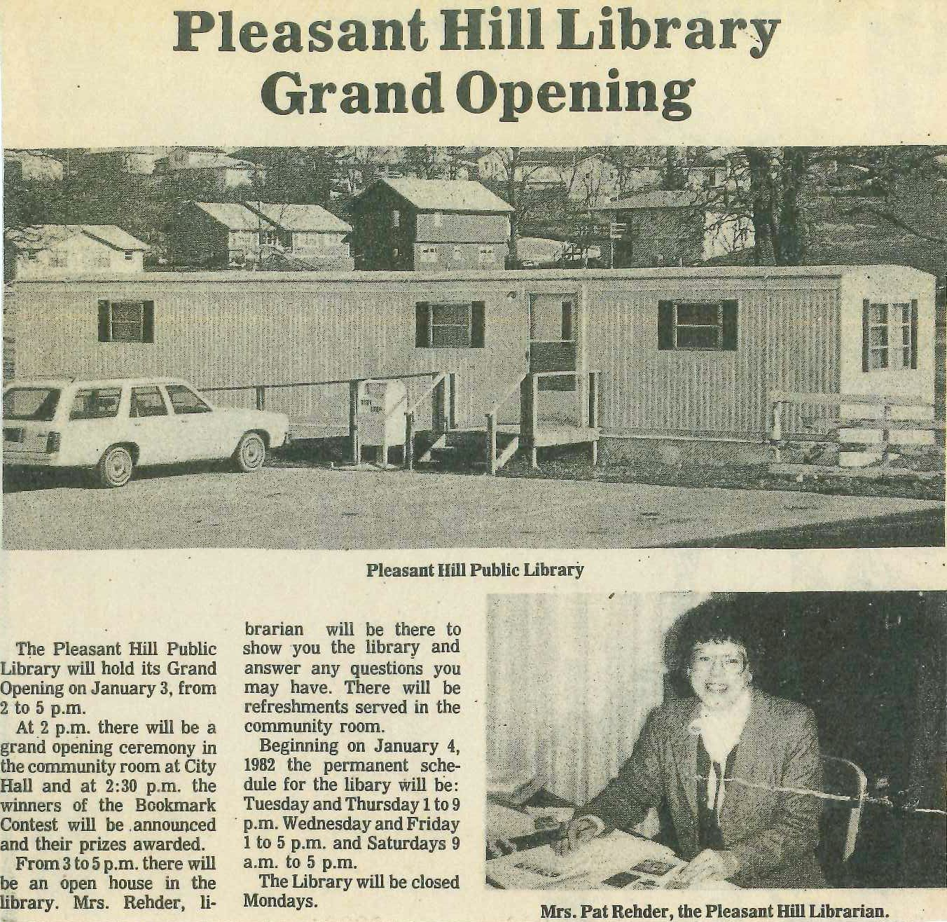 First library grand opening