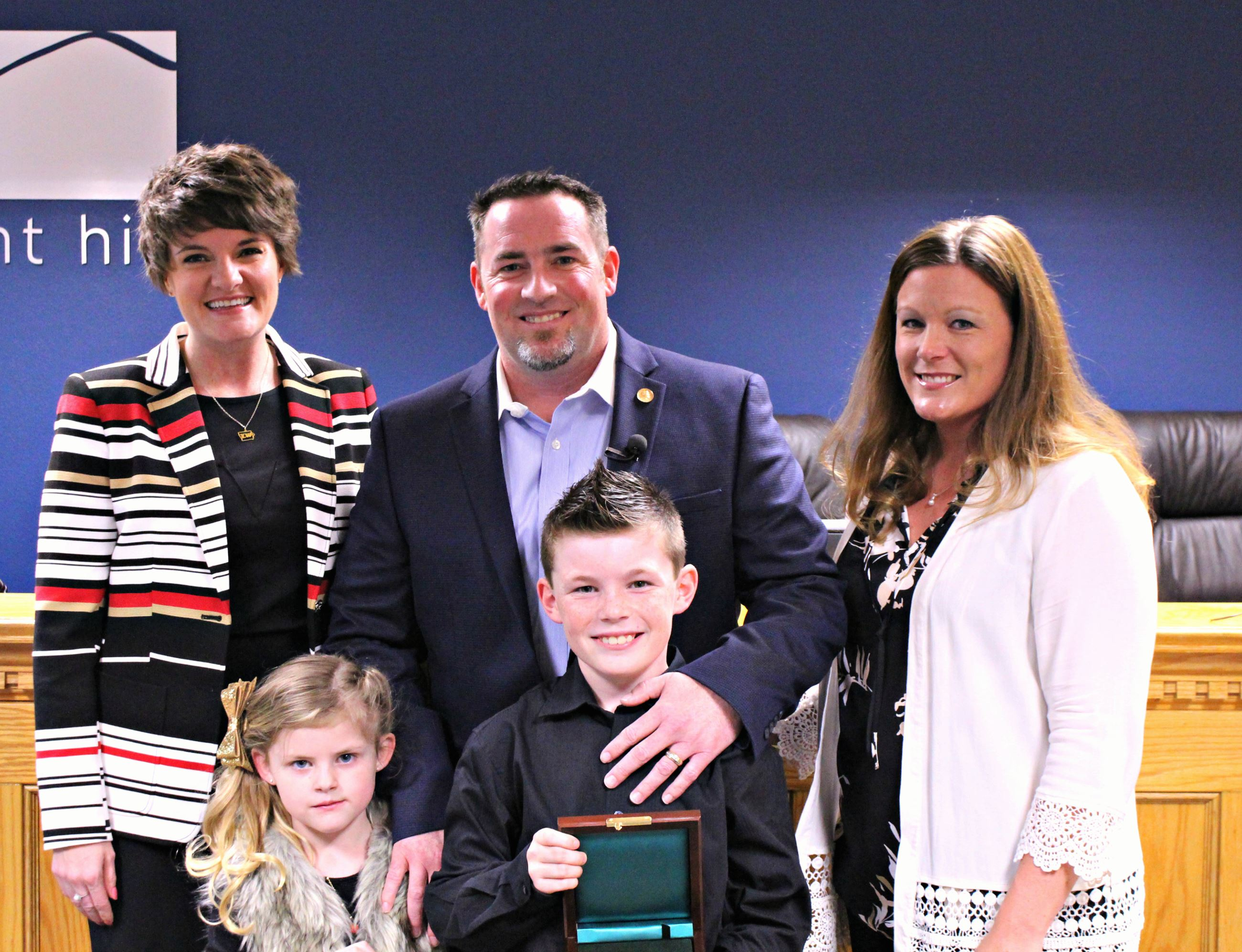 6. Mayor Sara Kurovski_Damian Bell and Family